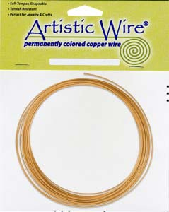 Artistic Wire 14ga Natural Copper per 25 ft Coil (7.62m)
