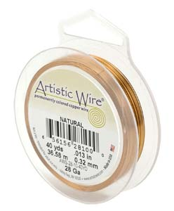 Artistic Wire - 18g Natural per 10 yd (9.14m) Retail Spool