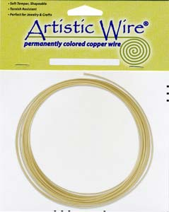 Artistic Wire - 16g Non Tarnish Brass per 25 ft Coil (7.62m)