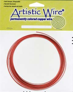 Artistic Wire - 14g Red per 10 ft Coil (3.05m)
