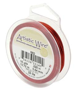 Artistic Wire 24ga Red per 20 yd (18.29m) Retail Spool