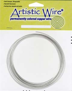 Artistic Wire 16ga Silver Plated (Tarnish Resistant) per 25 ft Coil (7.62m)