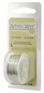 Artistic Wire - 24g Stainless Steel per 10 yd (9.1m) Dispenser Roll