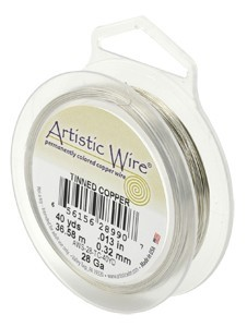 Artistic Wire 26ga Stainless Steel 30 yd (27.43m) Retail Spool