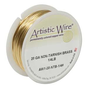 Artistic Wire 20ga Non-Tarnish Brass per 78.8ft (24m) 1/4 lb (0.11kg) Spool