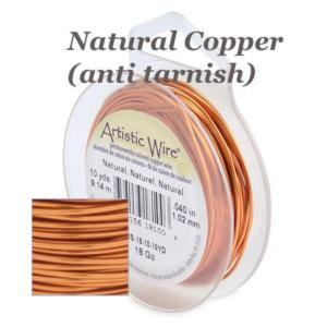 Artistic Wire 26ga Natural Copper 30 yd (27.43m) Retail Spool