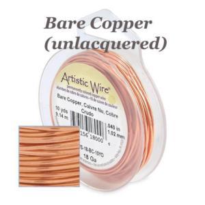 Artistic Wire 24ga Bare Copper per 20 yd (18.29m) Retail Spool