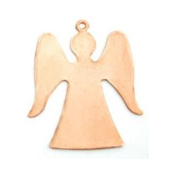 Copper Metal Stamping Blank, Angel (1 1/4 inch) 32.2x28.3mm 24ga x1
