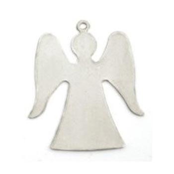 """Nickel Silver Angel 1 1/4"""" 32.2x28.3mm 24g Stamping Blank x1"""