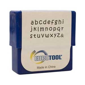Aras Alphabet Lower Case Letter 2mm Metal Stamping Set - Eurotool