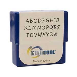 Aras Alphabet Upper Case Letter 2mm Stamping Set - Eurotool