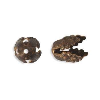 Vintaj Natural Brass 10.5mm Wisteria Bead Cap
