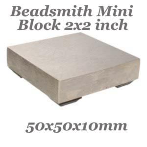 Bench Block (50x50x10mm) 2x2x0.44 inch, Steel Jewellers Tool