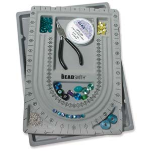 Beadsmith Travellers U Bead Board 28 inch (33.5cm) Flocked with Clear Lid Cover