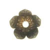 Trinity Brass Vintage Patina 8mm Leaf Design Bead Cap x1