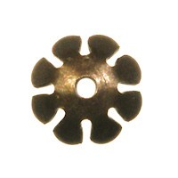 Trinity Brass Vintage Patina 8mm Petal Bead Cap x1