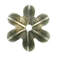 Trinity Brass Antique Silver 10mm Petal Bead Cap x1