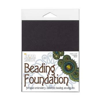 "Beadsmith Bead Back - 4.25x5.5"" Beading Foundation - Black"