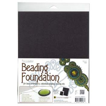 "Beadsmith Bead Back - 8.5x11"" Beading Foundation - Black"