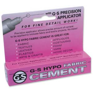 G-S Hypo Fabric Cement (Purple box) 1/3 fl oz