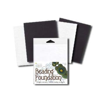 "Beadsmith Bead Back - 4.25x5.5"" Beading Foundation - Black & White Mix"