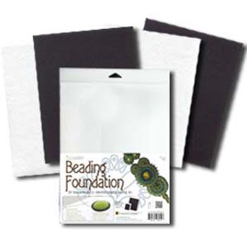 """Beadsmith Bead Back - 8.5x11"""" Beading Foundation - Black & White Mix"""