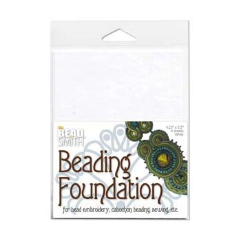 "Beadsmith Bead Back - 4.25x5.5"" Beading Foundation - White"