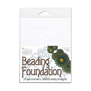 """Beadsmith Bead Back - 4.25x5.5"""" Beading Foundation - White"""