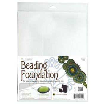 """Beadsmith Bead Back - 8.5x11"""" Beading Foundation - White"""