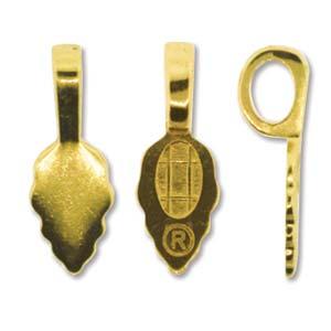 Aanraku Gold Plated 22x7.7mm Glue on Jewellery Bail x1