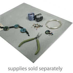 """Beadsmith Magic Fibre Beading Mat for Beads - Anti-Roll away 11x14"""""""