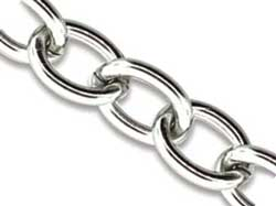 Stainless Steel Base Metal Cable Chain Link 9.2x6.9mm x1ft - 30cm