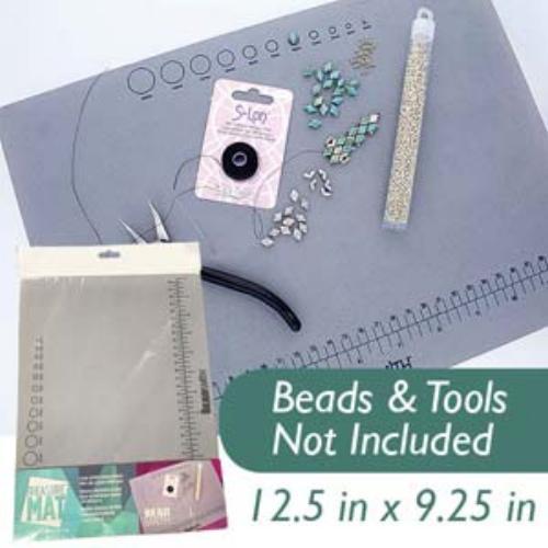 Beadsmith Treasure Bead Mat , Non Slip Jewellery Working Surface, 12.5x9.25 in