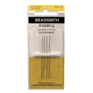 Beadsmith - ZB10510 Size 10 English Beading Needles x4