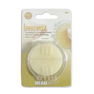 Beadsmith Bee's Wax Beeswax (12.6g) Thread Conditioner in Holder