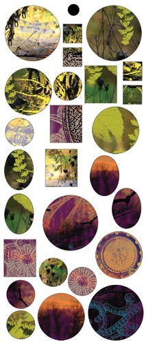 Vintaj Collage Sheet - for Bezels - Garden Sunset