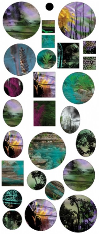 Vintaj Collage Sheet - for Bezels - Artistic Pond