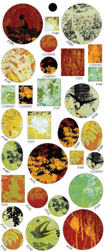 Vintaj Collage Sheet - for Bezels - Perennial Forest