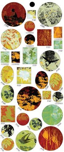 Vintaj Collage Sheet - for Bezels - Perennial Forest