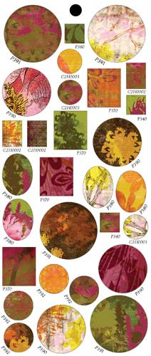 Vintaj Collage Sheet - for Bezels - Autumn Crush
