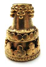 BALI Gold Vermeil 10mm Antiqued Cone