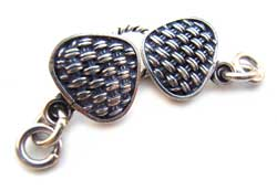 BALI Sterling Silver Woven Hook & Eye Clasp