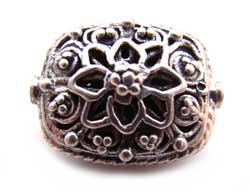BALI Sterling Silver Beads - 15x11x9mm Ornate Bead x1