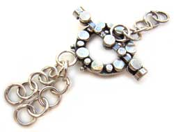 BALI Sterling Silver Beautiful Toggle - 1-2 Strand