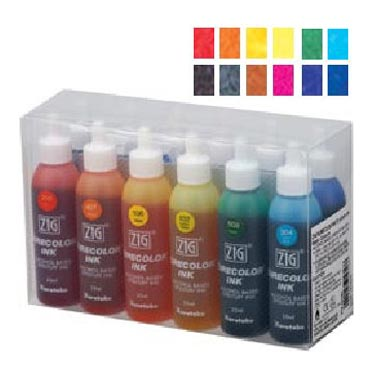 ZIG Kurecolor Alcohol Ink by Kuretake Basic Colour Kit - 25ml Bottles x12