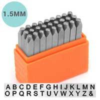 Basic Sans Serif Alphabet Upper Case Letter 1.5mm 1/16 Stamping Set - ImpressArt