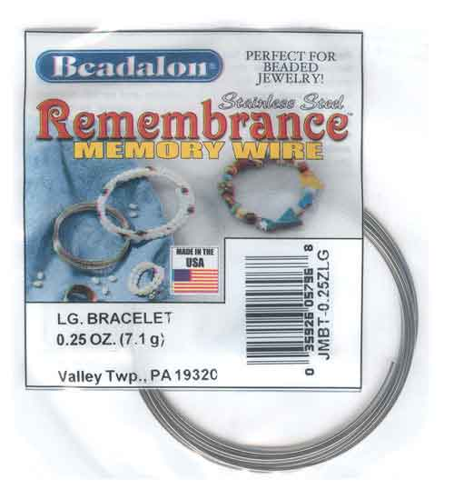 Beadalon Remembrance Memory Wire Large Bracelet 0.62mm Harvest Gold Stainless Steel 1/4oz packet