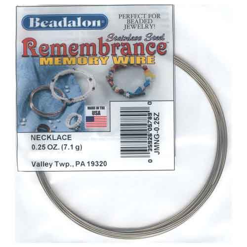 Beadalon Remembrance Memory Wire Necklace 0.62mm Harvest Gold Stainless Steel 1/4oz packet