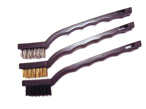 3-Piece Wire Brush Set ~ Brass, Nylon & Steel