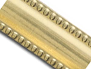 Raw Brass 6.3mm Flat Milgrain Patterned Wire - 18g per half ft - 15cm